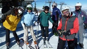 Fun with St. Bernards on skis!